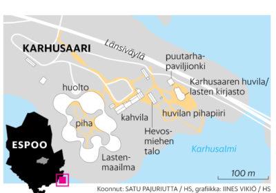 HS 28.5.2020: Länsiväylän varteen ranta- ja suojelukaava-alueelle suunniteltu Lastenmaailma-hanke kariutui