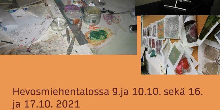 Puupiirtäjien paja Karhusaaressa lokakuussa