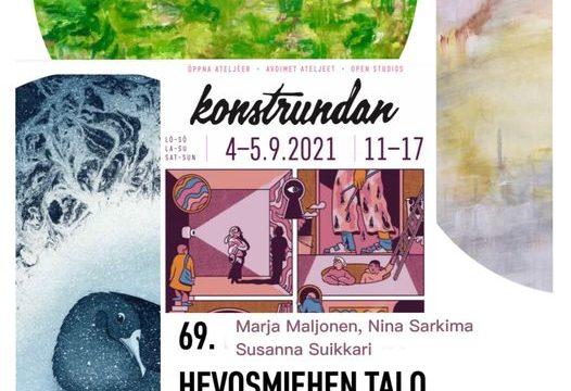 Konstrundan Karhusaaressa 4.-5.9.2021 klo 11-17